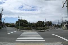 左側道路直進
